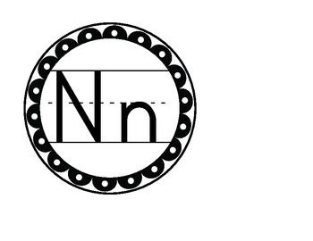 Scallop & Polka Dot Alphabet  & Number Line