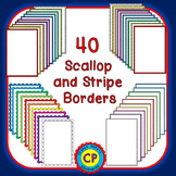 Borders and Frames - Scallop and Stripe Borders