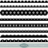 Scalloped Borders Clipart Ribbons Clip Art Text Dividers L