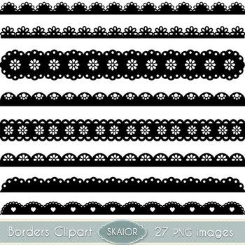 Scalloped Borders Clipart Ribbons Clip Art Text Dividers L