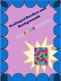 Scalloped Borders and Backgrounds/Fish or Dragon Scales. P