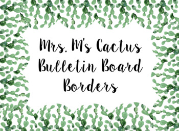 Scalloped Cactus Bulletin Borders
