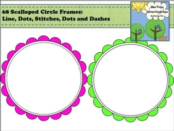 Scalloped Circle Frames - 68 Images