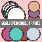 Scalloped Circle Frames - HUGE BUNDLE - Commercial Use Allowed
