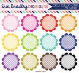 Scalloped Circles Clipart - Polka Dots Clip Art