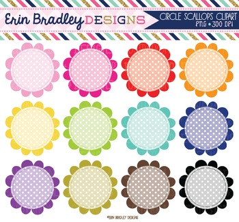 Scalloped Circles Clipart - Polka Dots Clip Art