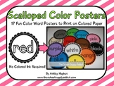 FREE Scalloped Color Posters {A Hughes Design}
