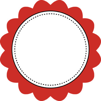Scalloped Colored round Frames Clip Art