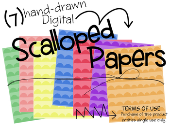 Scalloped Digital Papers