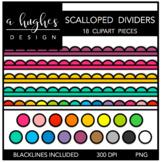 Scalloped Dividers Clipart {A Hughes Design}