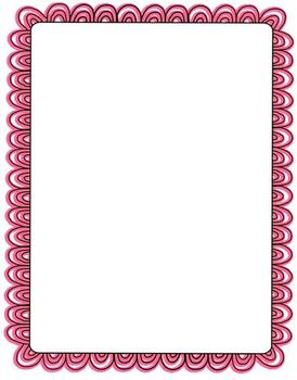 Scalloped Doodle Frames ~ Commercial Use Welcome