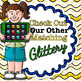Scalloped Frame Clip Art {Round Rainbow Glitter Labels for Worksheets} 1