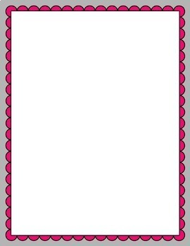 Scalloped Frames clipart - Bundle 1