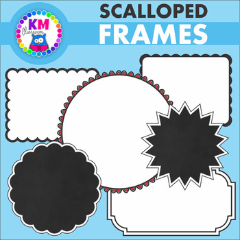 Scalloped Frames - Graphics for Commercial Use