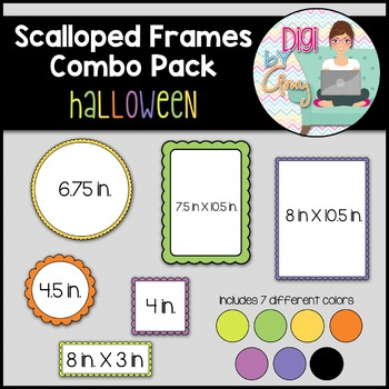 Scalloped Frames and Borders Clip Art Halloween