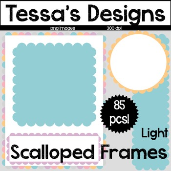 Scalloped Frames- Light