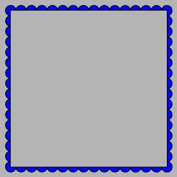 Scalloped Frames clipart - Set 5 (square)