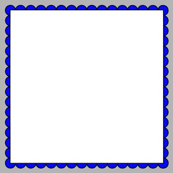 Square Scalloped Frames and Borders Clip Art