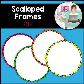 Scalloped Circle Frames Clip Art