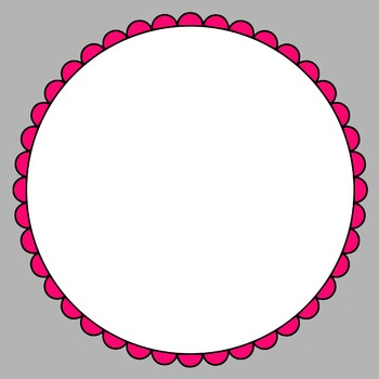 Scalloped Circle Frames Clip Art by Digi by Amy | TpT