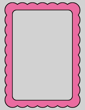 Scalloped Frames and Borders Clip Art Summer