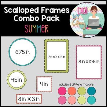 Scalloped Frames clipart - Summer - 96 frames