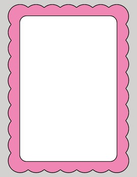 Scalloped Frames and Borders Clip Art