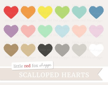 Scalloped Heart Clipart; Shape, Valentines Day