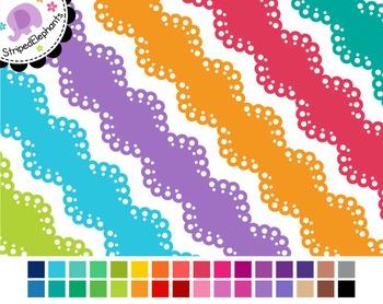 Scalloped Lace Digital Ribbon Borders 3