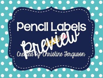 Scalloped Pencil Labels