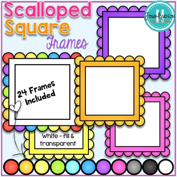 Scalloped Square Frames