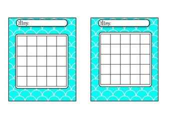 Scalloped Themed Behavior/Homework Incentive Charts