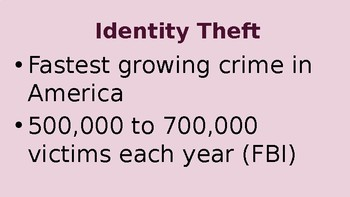 Scams, Schemes and Identity Theft