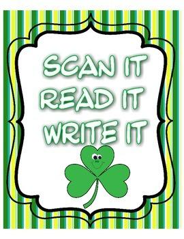 Scan It, Read It, Write It QR Code Sight Words