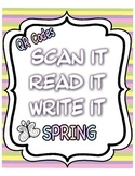 Scan It, Read It, Write It QR Code Sight Words Spring Theme