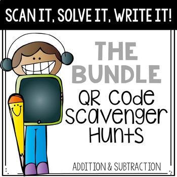 Scan It, Solve It, Write It! QR code Scavenger Hunt - The Bundle