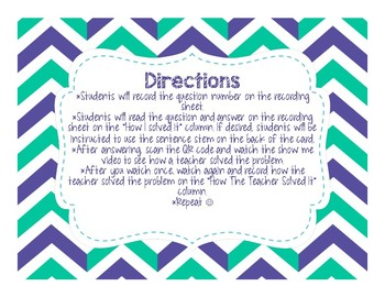 Scan Me Show Me: QR 1 and 2 Step Addition and Subtraction Word Problems FREEBIE