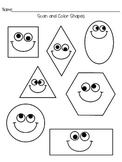 Scan and Color the Shapes