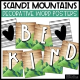Scandi Mountains Classroom Decor   Decorative Word Posters