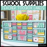 School Supplies Teacher Toolbox Labels -Editable