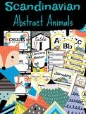 Scandinavian Abstract Animal Classroom Decor Bundle 108 Pg