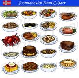 Scandinavian Food Clipart Set