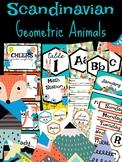 Scandinavian Geometric Animal Classroom Decor Bundle 108 P