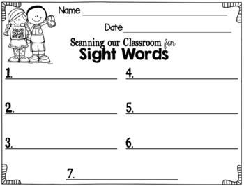 Scanning Sight Words: A Techy Resource to Foster Engagement