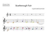 Boomwhackers score.-Scarborough Fair( irish celtic)St. Pat