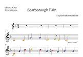 Scarborough Fair, wav sound acomp,piano,whistle,and Boomwhackers