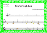 Boomwhackers score.-Scarborough Fair.-St. Patrick's Day Music.