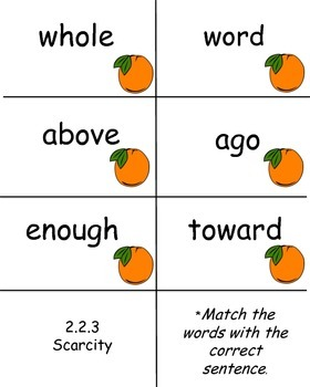 Scarcity, Reading Street, High Frequency Word Practice