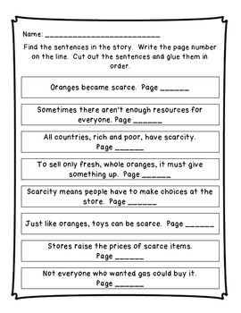 Scarcity Reading Street Unit 2 Week 3 Resource Pack