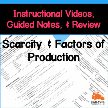 Scarcity and Factors of Production Instructional Videos & Guided Notes